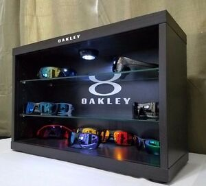 bf0a9bf218f3f Image is loading Deluxe-LED-Oakley-Sunglasses-Display-Case-Stand-Counter-