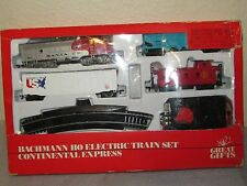 Bachmann HO Scale Electric Train Set - Continental Express CIB