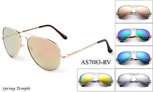 537fd2fc0884a Image is loading Aviator-Spring-Hinge-Men-Women-Sunglasses-Flash-Mirror-
