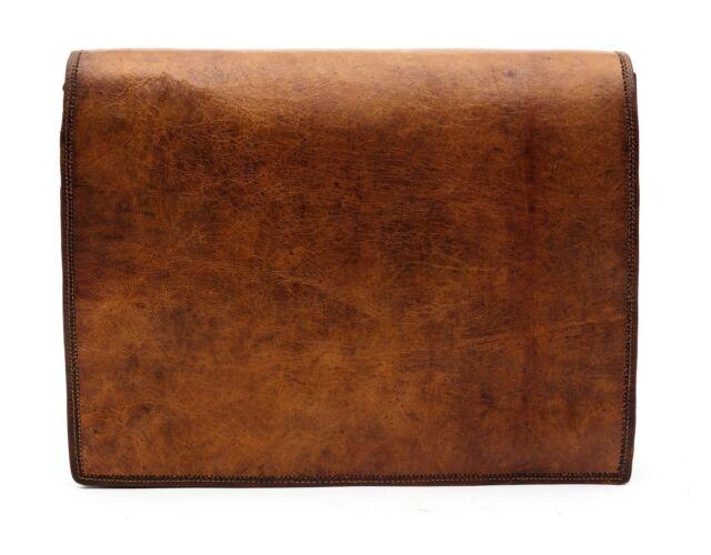 New Men's Real Vintage Brown Large Leather Messenger Laptop Satchel Shoulder Bag