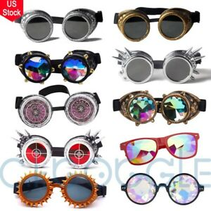 Retro Kaleidoscope Punk Victorian Lens Goggles Glasses Halloween Cosplay Party