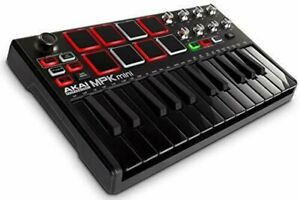 AKAI-Professional-USB-MIDI-Keyboard-Controller-MPK-Mini-MK2-Black-694318023983