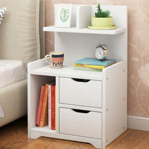 Details About Modern Chic White Bedside Tables Night Cabinets W Drawer Cupboard Storage Shelf