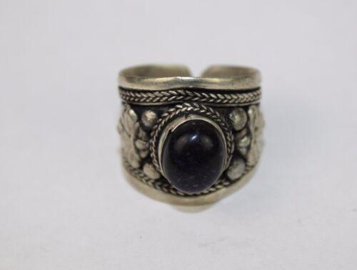 Tibetan Tribal Adjustable Ring Pewter Cuff Boho Gypsy Handmade Nepal FairTrade