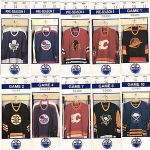 1990 Stanley Cup Champions Edmonton Oilers Ticket Stub Reg Season Pick One Ebay