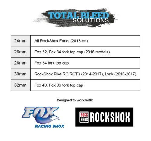 For Fox Anodised! TBS Flat Top Cap Socket Spanner RockShox Forks