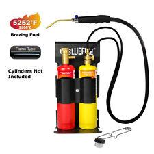 Bluefire Oxygen Mapp Propane Cutting Torch Kit Map Gas Cylinder Rack Flint Light
