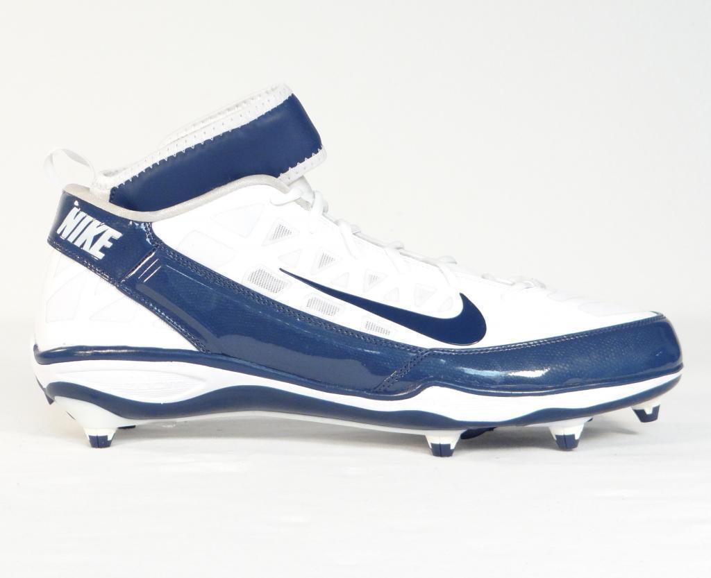 Nike air zoom d superbad 3 football scarpe bianco & blu Uomo nuova