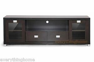 Modern Dark Wood Credenza : Hd tv entertainment stand media cabinet credenza drawers dark brown