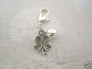 tibetan silver shanrock clip on charm