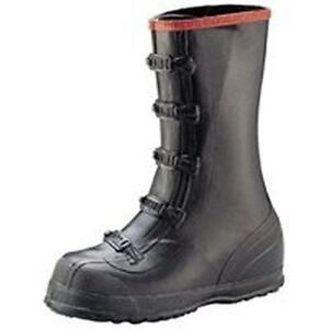 NEW-NORCROSS-T369-SIZE-11-OVERSHOE-5-BUCKLE-BLACK-RUBBER-QUALITY-WORK-BOOTS-SALE