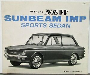 1964 Sunbeam Imp Sports Sedan From Scotland Sales Folder Original Ebay