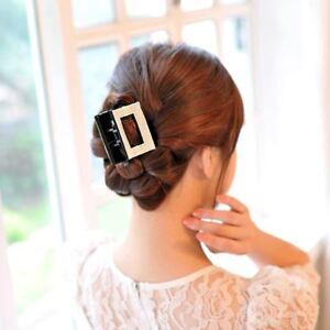 Grand Cristal Pince à Cheveux Strass Pince À Cheveux Clamp Square Bow Mâchoire Barrette Bridal-afficher Le Titre D'origine Rendre Les Choses Commodes Pour Le Peuple