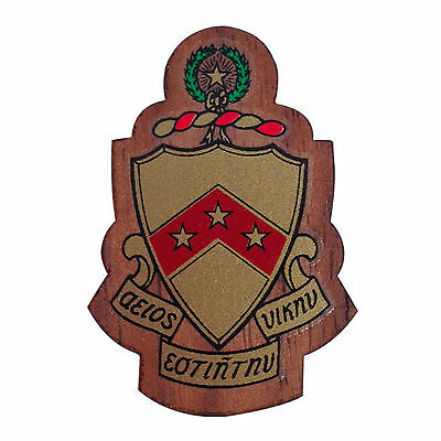 "Phi Sigma Kappa Mini Wood Crest 1.5/"" Paddle Accessory"
