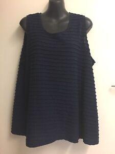 Millers-Ladies-Size-18-Navy-Blue-Singlet-Chemise-Top