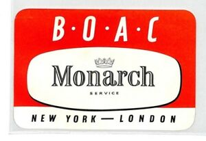 Ce26 Boac Vol étiquette-afficher Le Titre D'origine