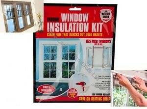 Window Shield Home Heating Draught Insulation Kit Excluder