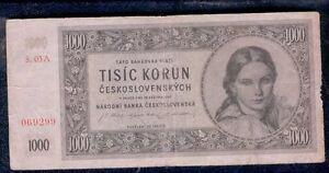 CECOSLOVACCHIA-1000-CORONE-1945-TISIC-KORUN-CESKOSLOVENSKYCH-SPL-mrm