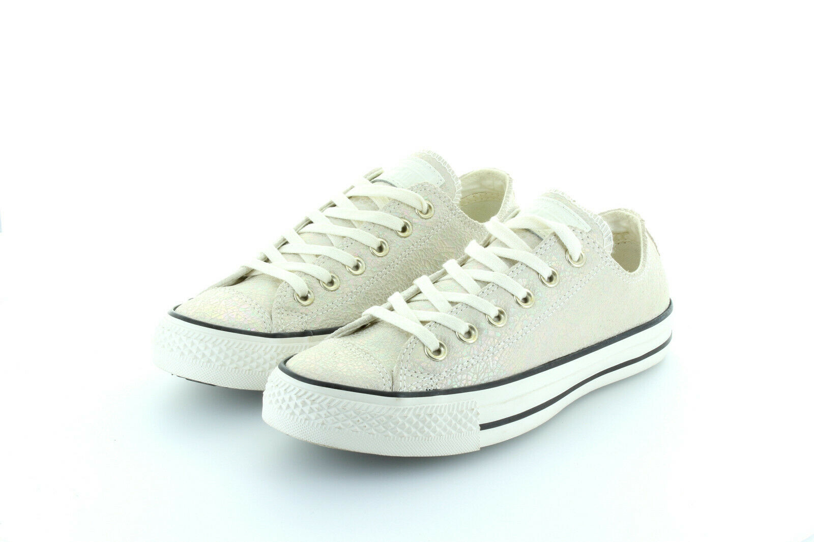 Converse All Star Chuck Taylor Ox Oil Slick Crusty Creme Leather Gr. 37,5   38,5