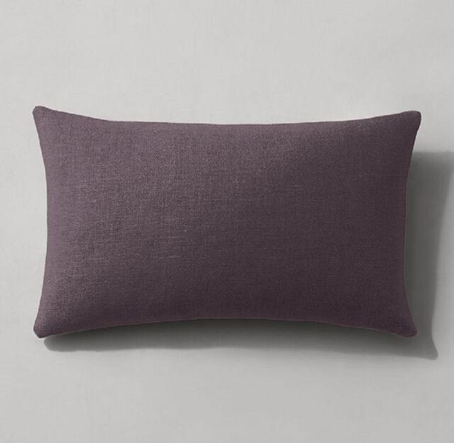 Restoration Hardware Plum Purple Belgian Linen Pillow Cover 40x40 Extraordinary 13x21 Pillow Insert