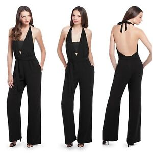 c1532f3079 Image is loading NWT-228-GUESS-by-Marciano-black-Ruby-Jumpsuit-