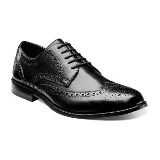 fantastica qualità Nunn Bush Uomo Uomo Uomo scarpe Nelson nero Leather Wing Tip Oxford Lace Up 84525-001  risparmia fino al 70%