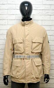 BELSTAFF-XL-Uomo-Cappotto-con-Cintura-Giacca-Impermeabile-Giubbino-Jacket-Man