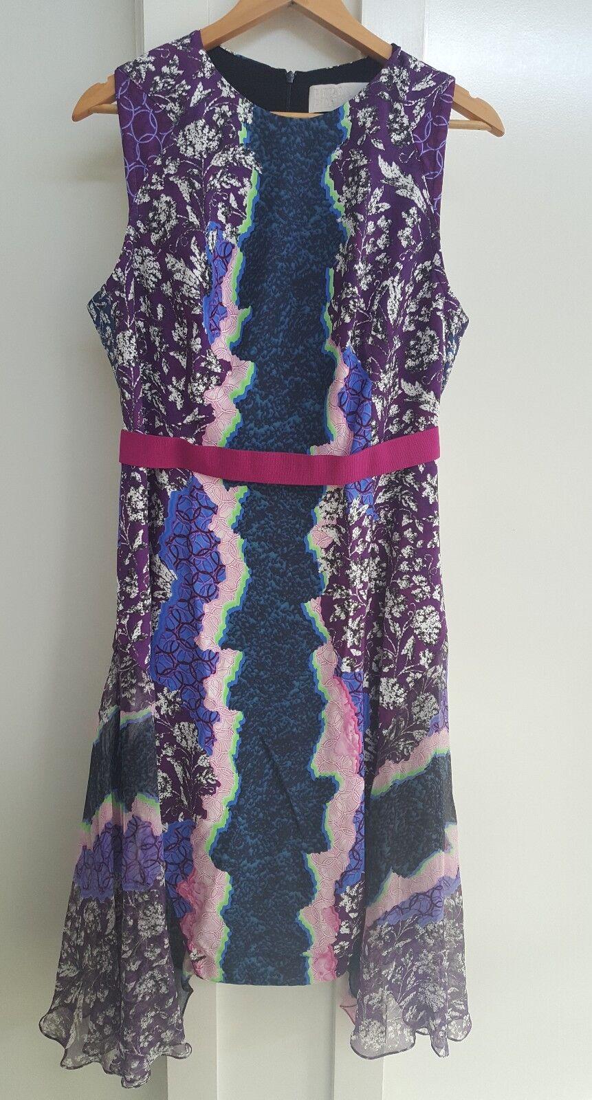 Beautiful Peter Pilotto shift dress with flowing silk panels -