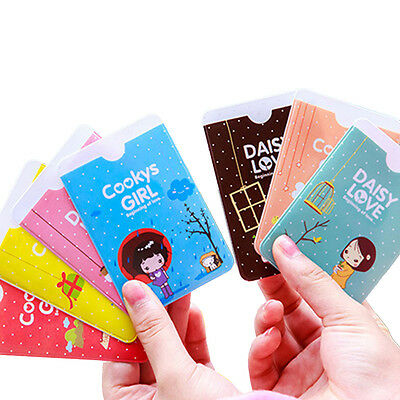 Hot Sale 3PCS Lovely Cooky Girl Business ID Credit Card Pocket Bag Wallet Holder