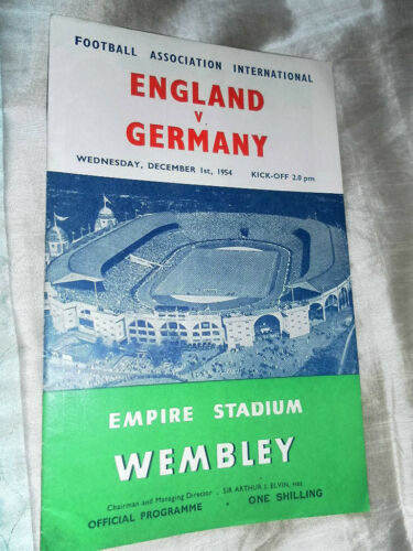 1954 ENGLAND V WEST GERMANY INTERNATIONAL