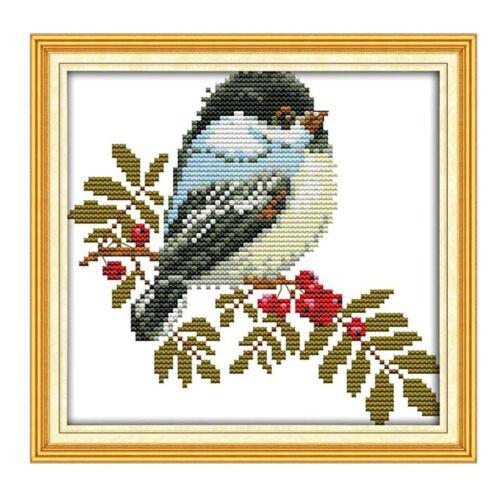 Kleine Vögel DIY Handarbeit Kreuzstich Stickpackung Set Stickerei Stickset