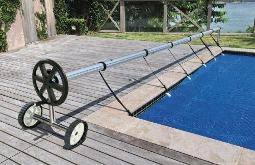 Kokido Stainless Steel Compact In Ground Pool Cover Reel Set (Up to 20\')