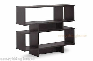 Modern-Brown-4-Level-Display-Shelving-Unit-Divider-Decor-Book-Shelf-Case-Design