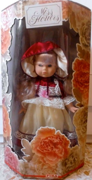 BAMBOLA SPETTACOLARE MISS FLOWERS FIBA ANNI 80 MADE IN ITALY OLD DOLL