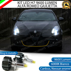KIT FULL LED H7 6000K CANBUS LED PER LENTICOLARI ALFA ROMEO GIULIETTA NO ERROR