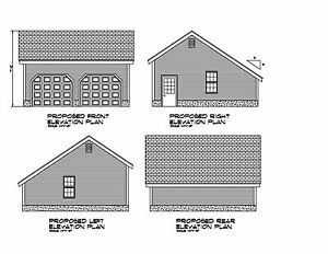24x24 garage plan salt box roof 24x24 garage print for Saltbox garage plans