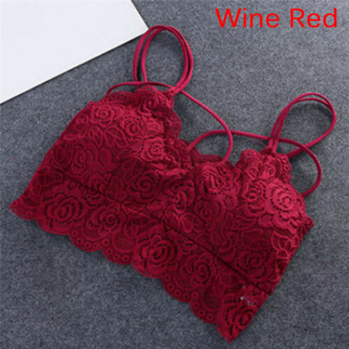 Women Wire FreStraps Bra Lace Bralette Seamless Unpadded Floral Brassiere  GZ