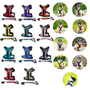 Reflectante-Perro-Cachorro-Arnes-Auto-Chaleco-fuerte-Ajustable-para-Perros-Pequenos-Mascotas-Grande