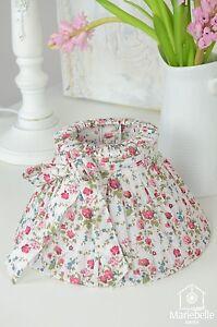Lampenschirm-Blumen-gebluemt-Romantik-Nostalgie-Shabby-Landhaus-Stil-Country-E14