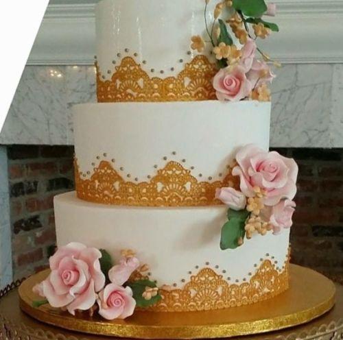 6 x EDIBLE SUGER LACES Wedding Anniversary Babyshower Birthday CAKE CUPCAKE TEA