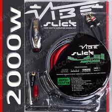 vibe slick 12v 4 awg gauge 2000 watts 2000w car amp amplifier system rh ebay com