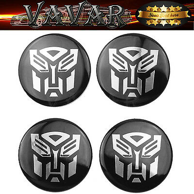 4pcs 60mm Transformers Autobot Wheel Center Hub Caps Emblem Badge Stickers