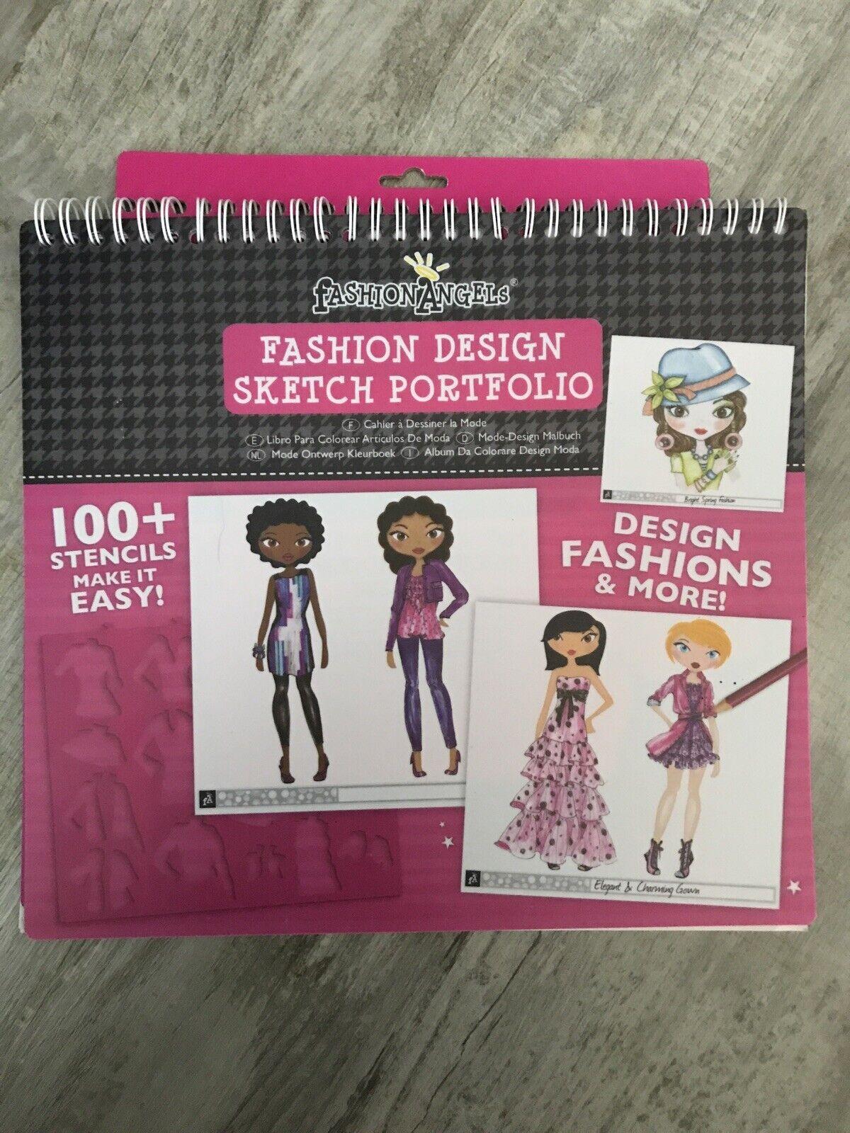 Disney Princess Fashion Angels Sketch Portfolio Stencil Sticker Sheets For Sale Online Ebay