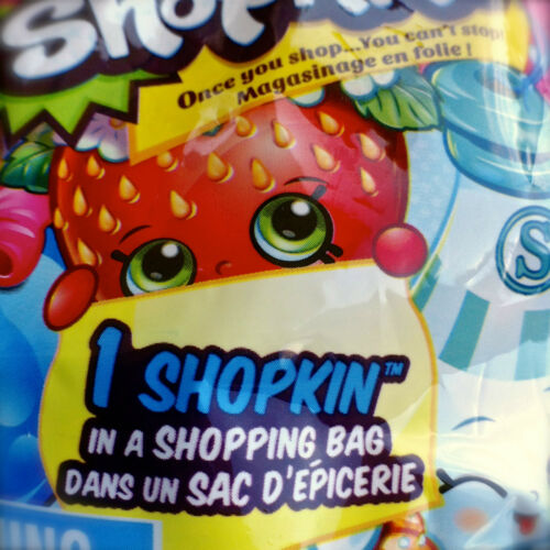 Shopkins SEASON 1 Blind Surprise MYSTERY BAG includes 1 Shopkin /& 1 Shopping Bag