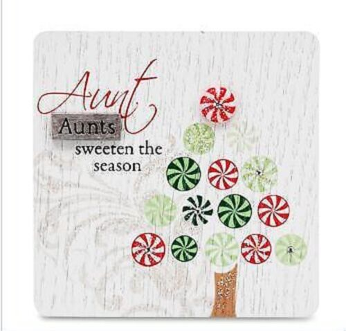 Sentiment Plaque--AUNT Plaque-3 X 3 Hanging or Standing Wood Sign