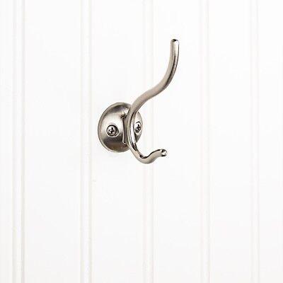 Wall Mount Hat Coat Rope Hook Bathroom Towel Holder Hang In Satin Nickel