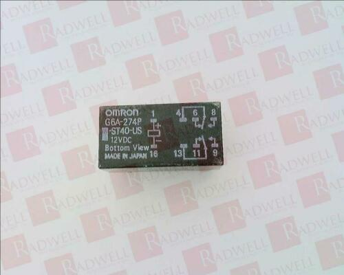 OMRON G6A-274P-ST40-US-DC12 BRAND NEW G6A274PST40USDC12