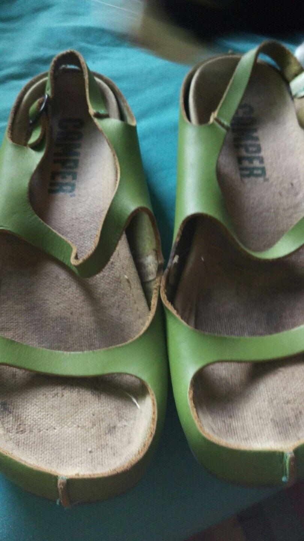 Camper green Leder Sandales 5 38