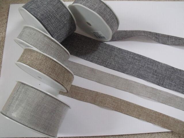 VIVANT Faux Burlap Jute Natural Ribbon Weddings - var colours / widths / lengths
