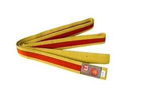 Ju-Sports Budo-Gürtel gelb/orange/gelb  Karate, Judo, Ju-Jutsu, Taekwondo